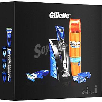 Gillette Fusion Proglide Pack con maquinilla de afeitar Styler + gel de afeitar estuche 1 unidad