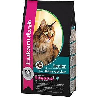 EUKANUBA SENIOR alimento especial para gato adulto +11años con pollo e hígado  bolsa 4 kg