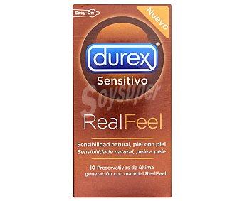DUREX Preservativos con material RealFeel sin latex, 10 Unidades