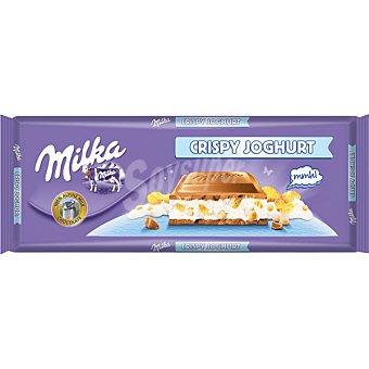Milka Chocolate relleno de Crispy Joghurt Tableta 300 g