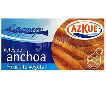 Azkue Filetes de Anchoa en Aceite Vegetal 50 Gramos
