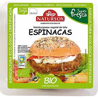 Natursoy bio hamburguesa vegetal de tofu y espinacas Envase 140 g