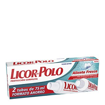 Licor del Polo Crema dentrifico aliento fresco 2X1 75ML