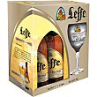 Cerveza rubia Blonde belga estuche de 4 botellas 33 cl estuche de 4 botellas 33 cl Leffe
