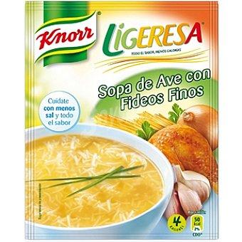 Knorr Sopa de ave con fideos finos Ligeresa Envase 99 g