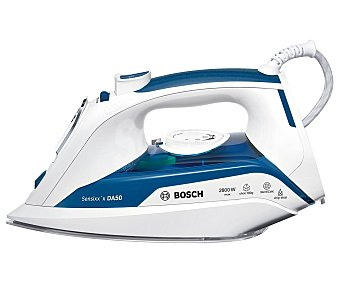 Bosch Plancha de vapor Sensixx'x DA50 TDA5028010, suela ceraniumglissée, potencia 2800W
