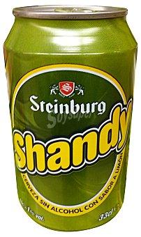 Steinburg Cerveza shandy con limon sin alcohol Lata 330 cc