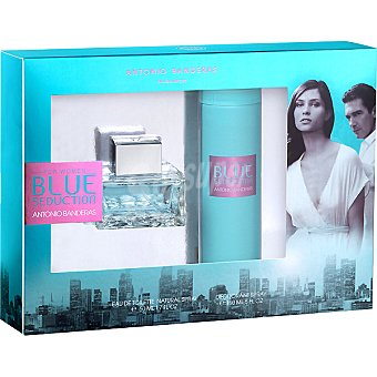 ANTONIO BANDERAS Blue Seduction eau de toilette natural femenina spray 50 ml + desodorante spray 150 ml Spray 50 ml