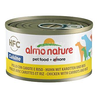 Almo Nature HFC cuisine alimento húmedo para perros adultos con pollo, zanahoria y arroz Envase 95 g