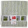 Paño de cocina 50x50cm, 100% algodón color verde con cenefa estampada AUCHAN.  Auchan
