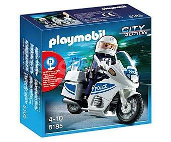 PLAYMOBIL Moto de policía de la serie City Action modelo 5185 de 1 unidad