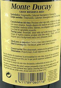 Monte Ducay Vino Tinto Cariñena Gran Reserva Botella 75 Centilitros