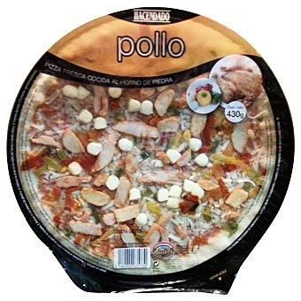 Hacendado Pizza fresca pollo (pollo, cebolla, pimientos asados) u 430 g