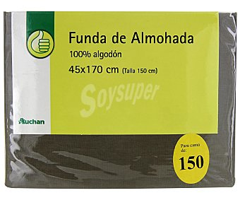Productos Económicos Alcampo Funda de almohada, color piedra, 150 centímetros 1 Unidad