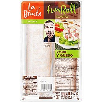 La broche funroll Flautas de york y queso 2 unidades envase 275 g 2 unidades