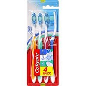 Colgate Cepillo manual Triple Action 4 unidad