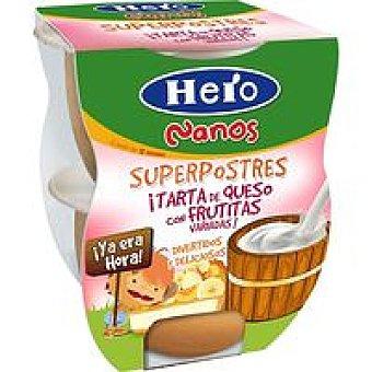 Hero Yarta frutas queso nanos 130 gr