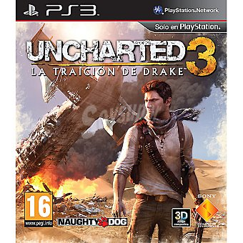 PS3 Videojuego Uncharted 3: La traición de Drake para PS3