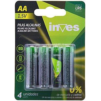 Inves LR06 AA pilas alcalinas blister 4 unidades 4 unidades