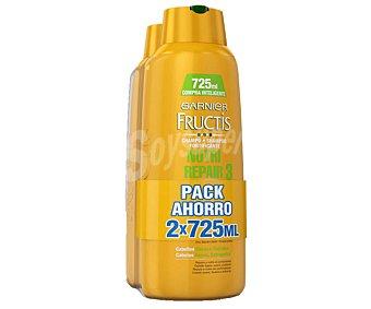 Fructis Garnier Champú nutritivo especial para cabellos secos y dañados 2 unidades de 725 mililitros