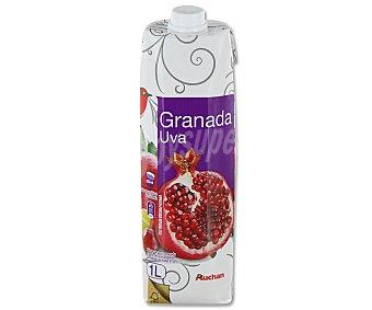 Auchan Néctar de uva roja y granada prisma 1 litro