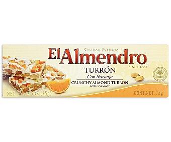 El Almendro Turrón duro con naranja 75 gramos