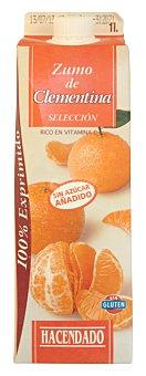Hacendado Zumo mandarina clementina seleccion refrigerado Brick 1 l