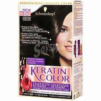 Keratin Color Schwarzkopf Tinte castaño oscuro N.3 Caja 1 unid