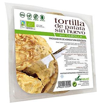 SORIA NATURAL Tortilla de patata sin huevo sin cebolla sin gluten ecológica envase 250 g