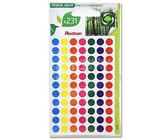 Auchan Bolsa con 231 Etiquetas Circulares de 8 Milímetros y de Diferentes Colores 1 Unidad