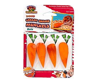 San Dimas Zanahorias de madera para roedores 4u