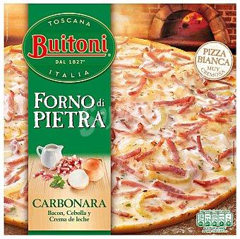BUITONI FORNO DI PIETRA Carbonara pizza con bacon cebolla y crema de leche  estuche 300 g