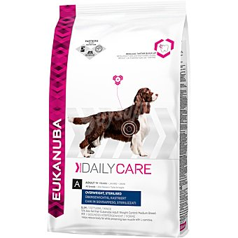 EUKANUBA DAILY CARE Perros con sobrepeso y esterilizados alimento diario completo y equilibrado bolsa 125 kg Bolsa 125 kg
