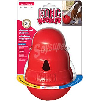 KONG WOBBLER Juguete para perro interactivo dispensador de comida y premios talla 2 medida 19 cm 1 unidad