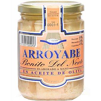 Arroyabe Bonito del norte en aceite de oliva (elaborado a mano) Frasco 260 g (neto escurrido)