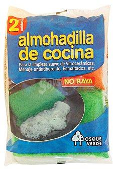 Bosque Verde Estropajo almohadilla cocina Pack 2 u