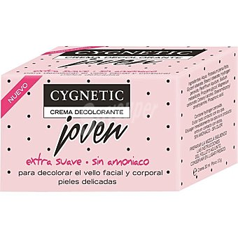 Cygnetic Joven crema decolorante facial y corporal extra suave sin amoniaco Tarro 30 ml