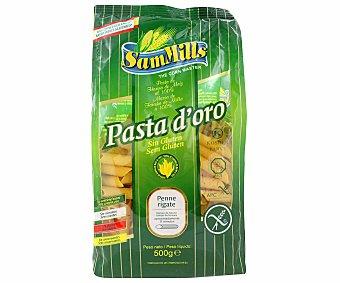 Sam Mills Pasta doro penne rigate de maiz sin gluten bolsa 500 g Bolsa 500 g