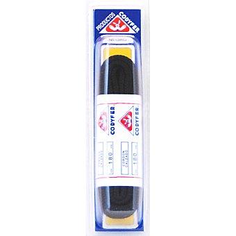 CODYFER Cordones redondos negros 180 cm