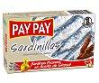 Sardinillas picantes en aceite vegetal Lata de 65 g Pay Pay