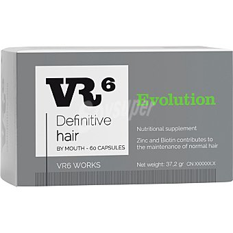VR6 Definitive Hair tratamiento para la caída del cabello caja 60 cápsulas 60 c