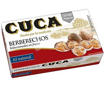 Cuca Berberechos al natural 50/60 unidades 63 g