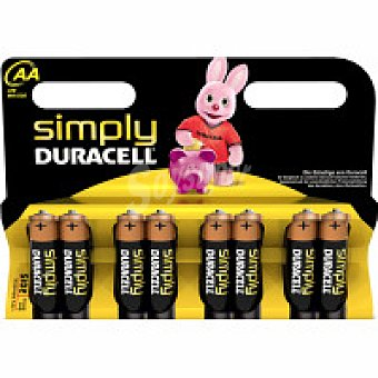 AA8 DURACELL Pila alcalina simply Pack 8 unid