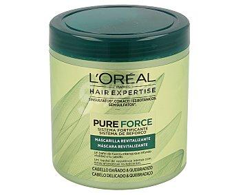 L´ORÉAL Mascarilla revitalizante para cabello dañado y quebradizo Hair Expertise Pure Force 250 mililitros