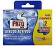 Recambio discos WC activos aroma frescor marino 2 uds. de 36 ml Pato