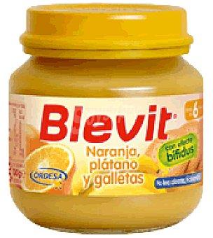 BLEVIT Tarrito Naranja, plátano y galletas 130 g