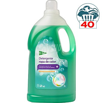 El Corte Inglés detergente máquina líquido para ropa de color botella 40 dosis 3 l