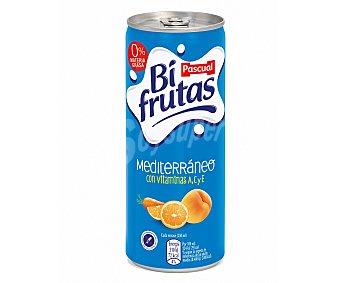 Bifrutas Pascual Leche con zumo de frutas mediterráneo 250 mililitros