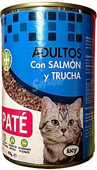 Lucy Comida gato adultos paté trucha salmón Bote 400 g
