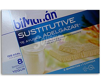 BIMANÁN Sustitutive Barritas sustitutivas para el control de peso yogur, 8 unidades x 40 Gramos